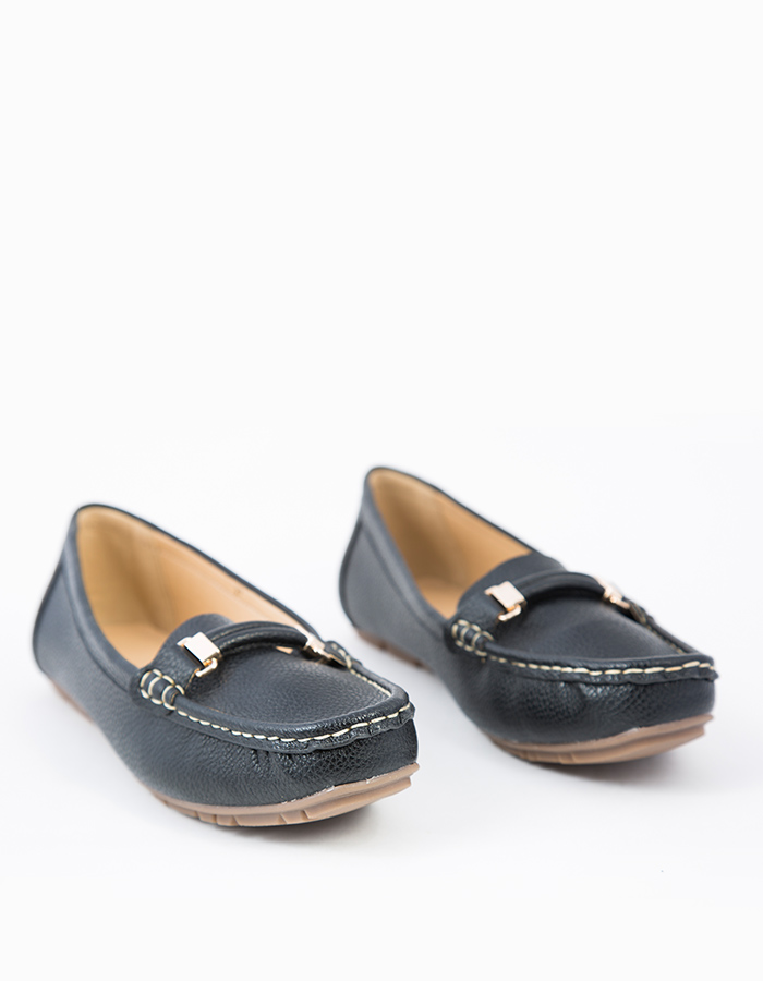 METALLIC BUCKLE LOAFERS #25565