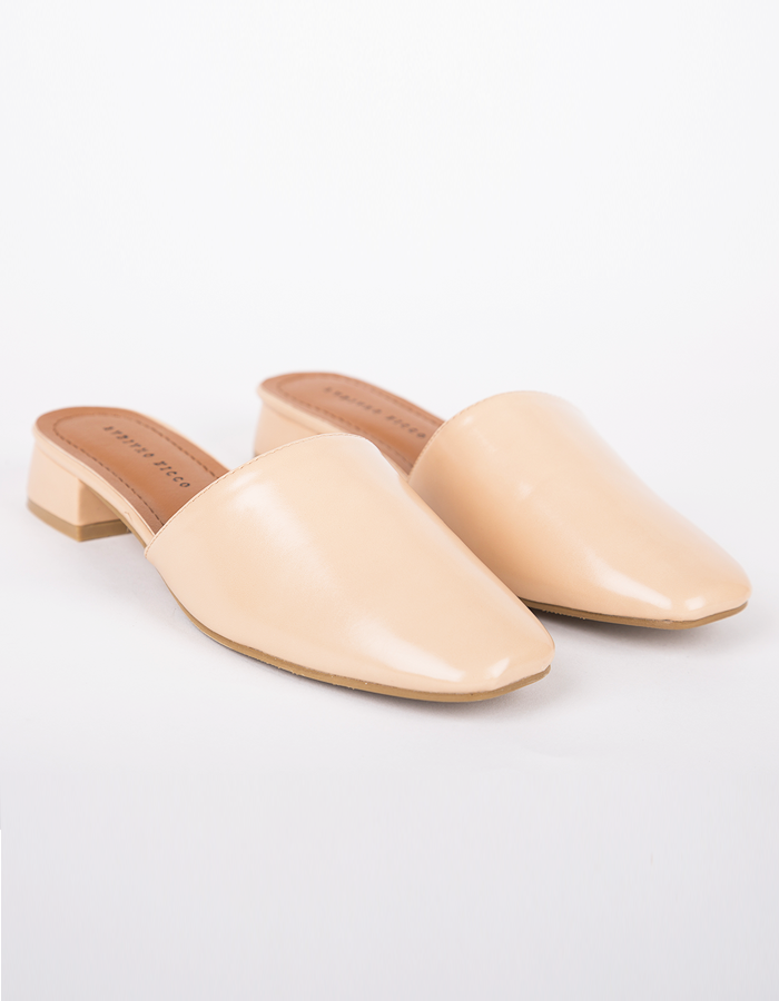 FAUX LEATHER MULES #25918