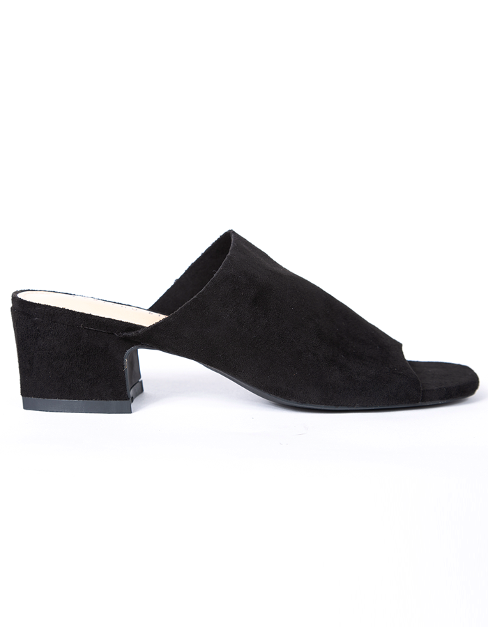 VELVET BLOCK HEEL MULES #25912 (ADD TO WISHLIST)