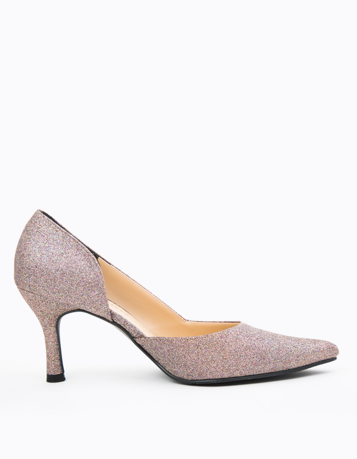 CUT OUT GLITTERY POINTED PUMPS #25510