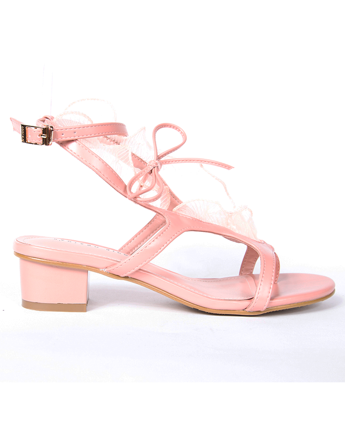 RUFFLE DETAIL ANKLE STRAP SANDALS #25964
