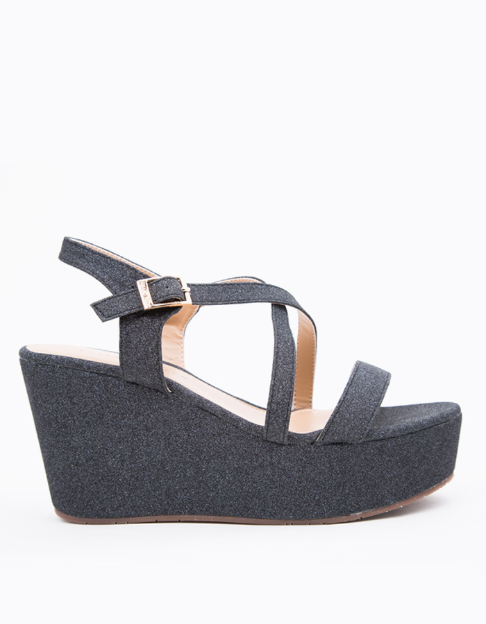 CROSSBAND GLITTER WEDGES #25442