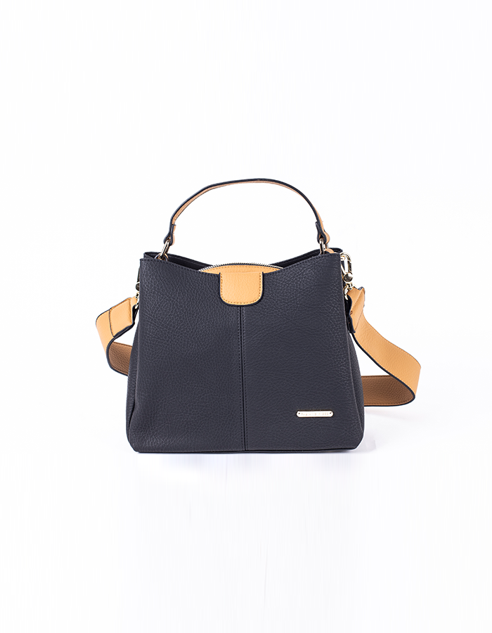 TOP HANDLE CONTRAST SHOULDER BAG #25776
