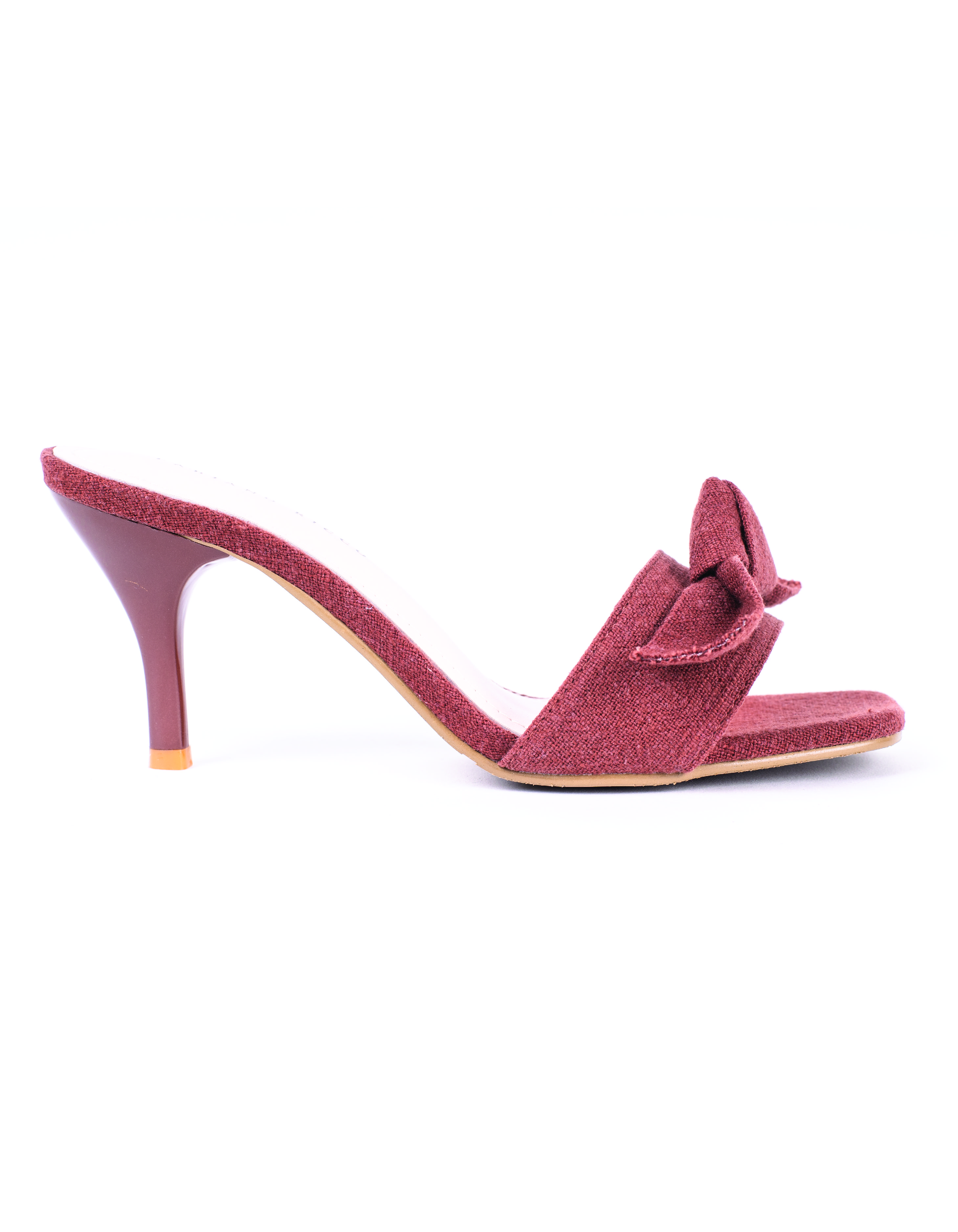 RIBBON DETAILED SQUARE HEADED MULES #26023
