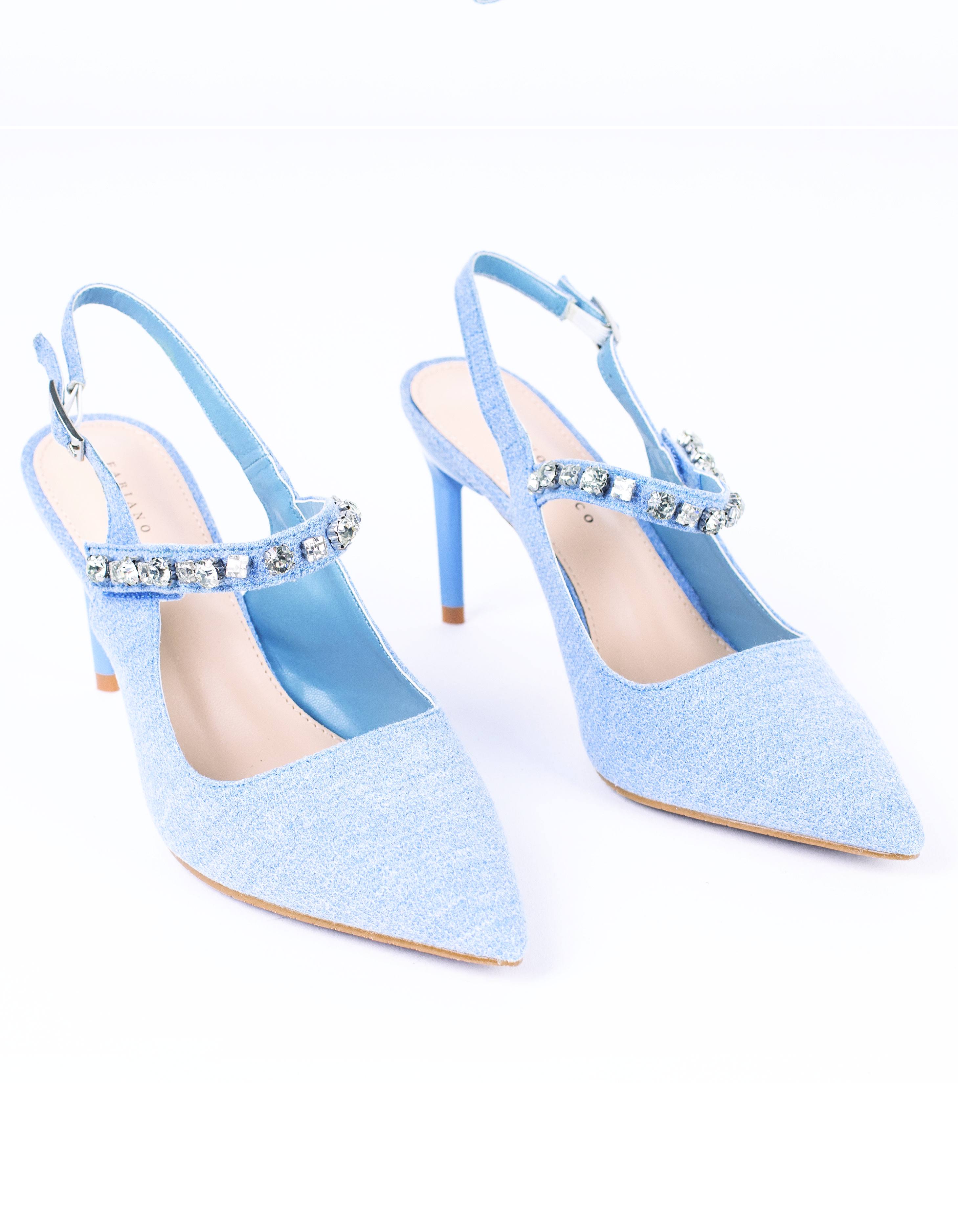 EMBELLISHED POINTED TOE COVERED HEELS #26015