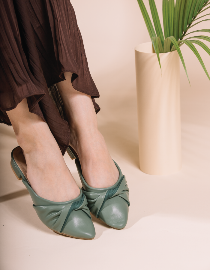 BRAIDED POINTED MULES #26162