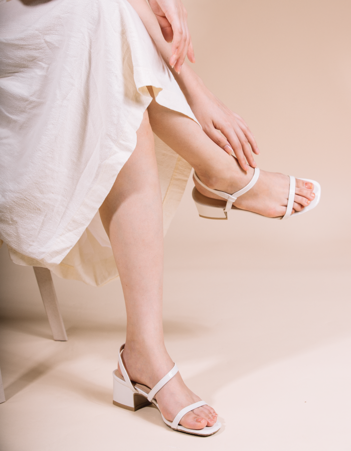OPEN TOE LOW BLOCK HEELS #26149