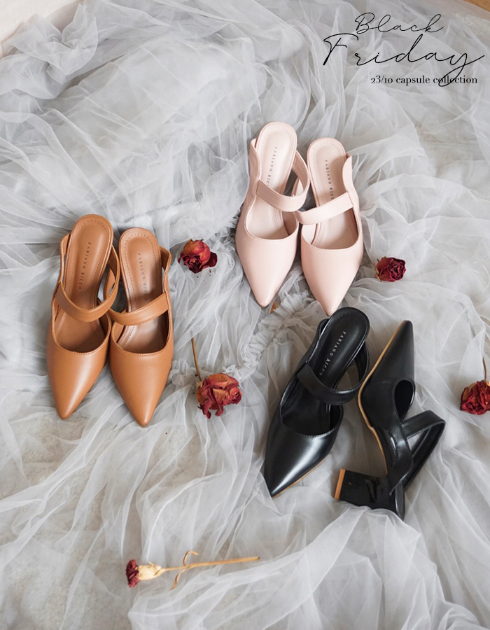POINTED TOE MULES #26298