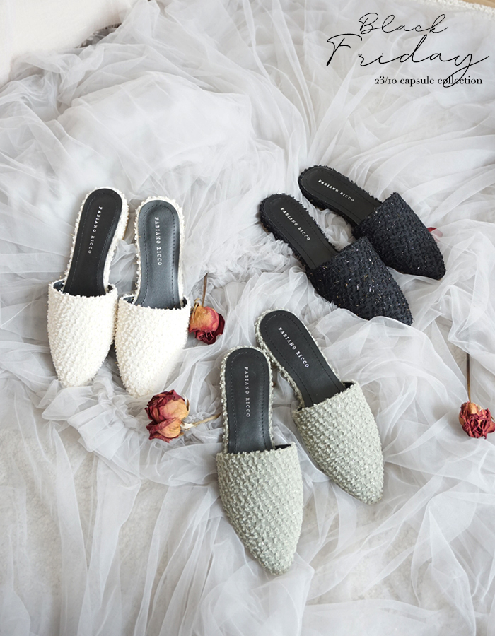 POINTED TOE MULES #26348