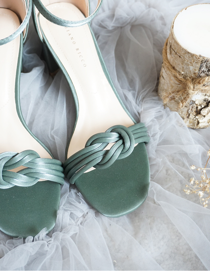 KNOTTED DETAIL SANDAL HEELS #26312