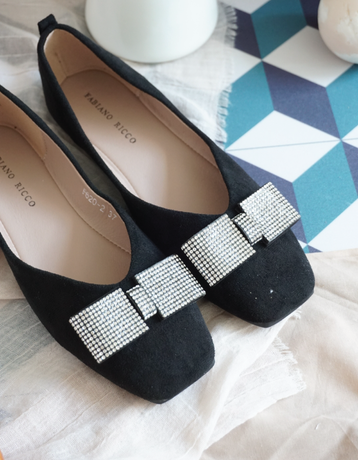 EMBELLISHED SQUARE TOE #26364