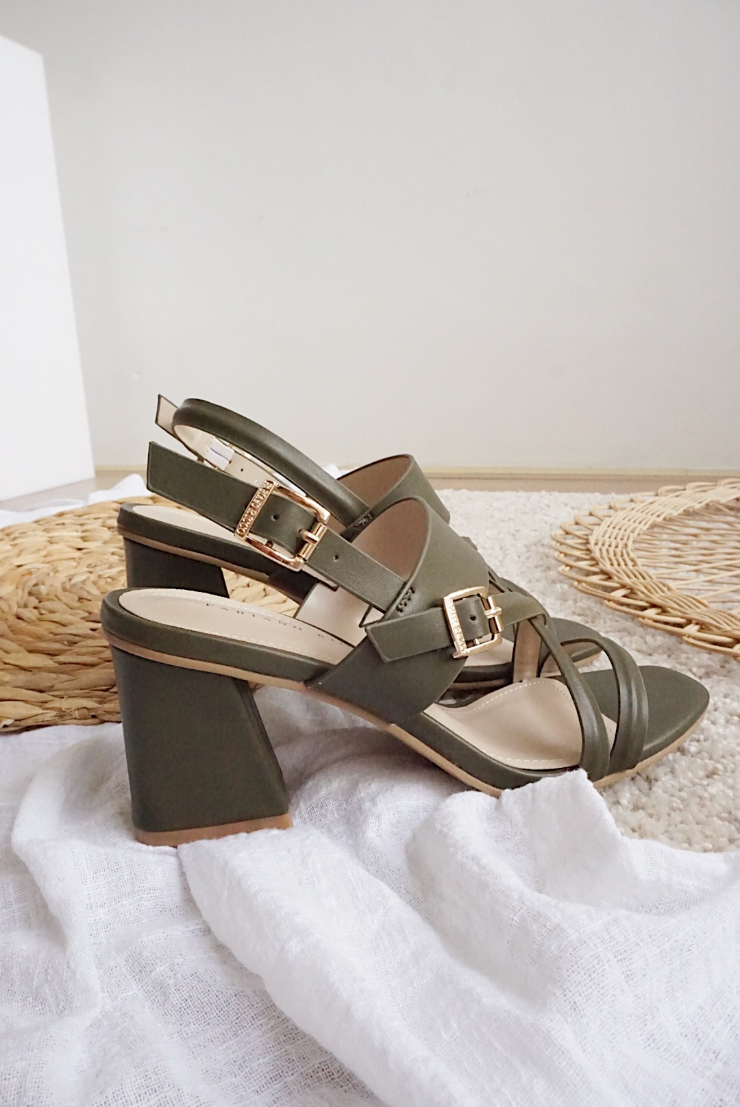 CROSS STRAP BUCKLE SUMMER SANDALS#26458