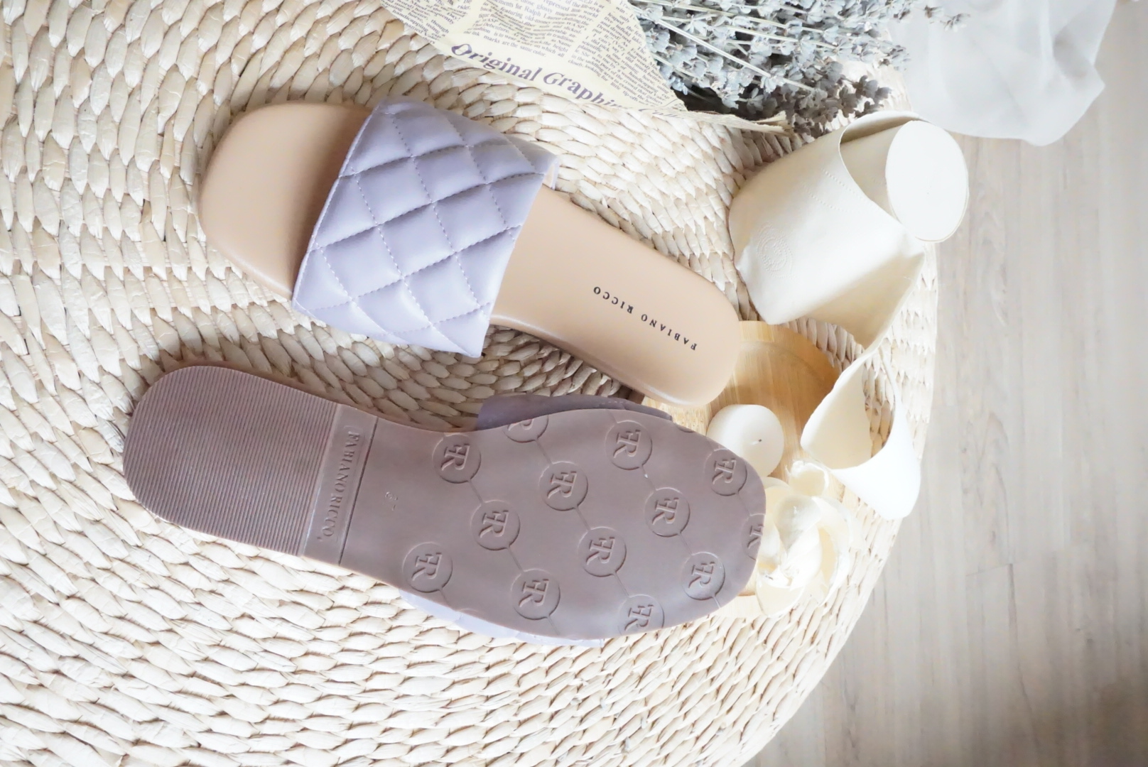 PASTEL QUILTED  SANDALS #26469
